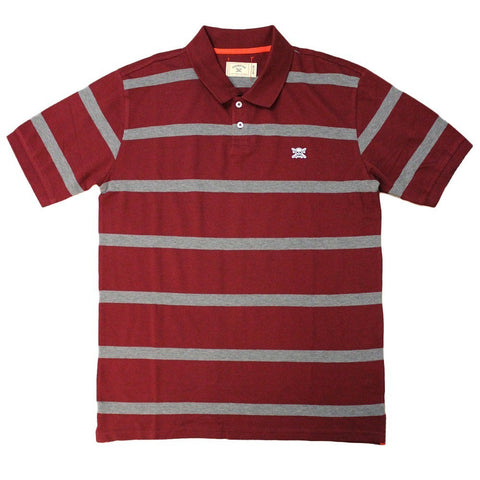 Fourstar Polo Stripe (Burg)