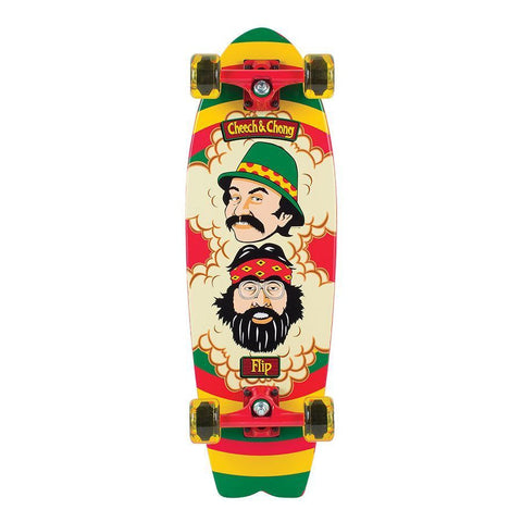 Flip Cheech and Chong Rasta Complete Cruzer Skateboard