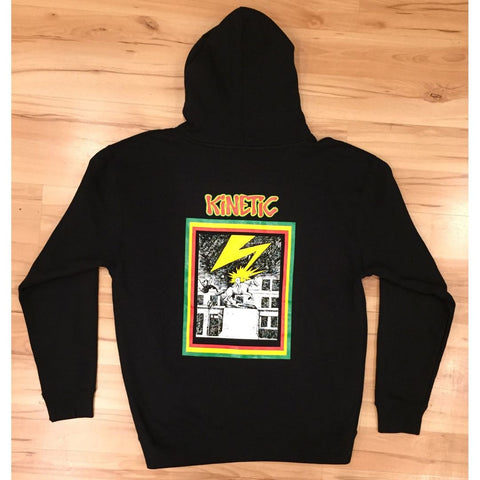 Kinetic Banned In DE Zip Up Hoodie (Black)