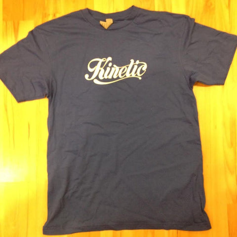 Kinetic Script Logo T-Shirt (Royal/White)