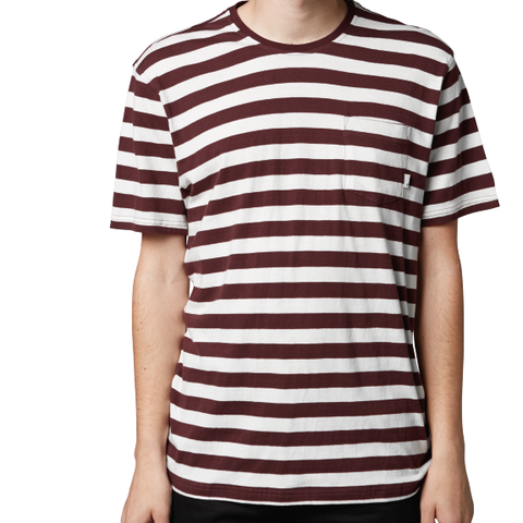 Altamont Cromwell SS Crew (White/Burgundy)