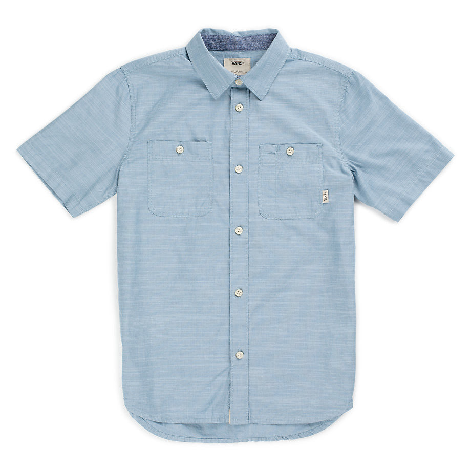 Vans Guilder IV Boys Button Up (Blue Ashes)