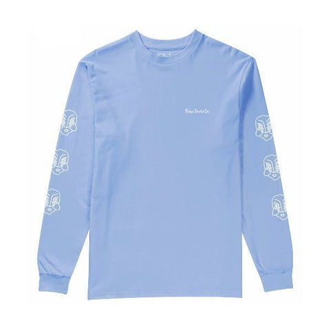Polar Three Faces Long Sleeve Tee (Powder Blue)