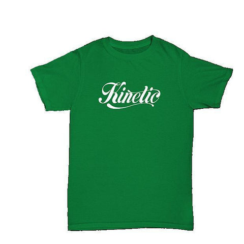 Kinetic Script Logo T-Shirt (Kelly Green/White)