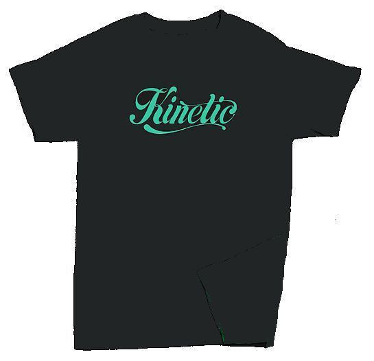 Kinetic Script Logo T-Shirt (Black/Mint)