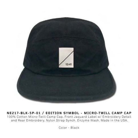 Numbers Edition Edition Symbol Micro Twill Camp Cap (Black)