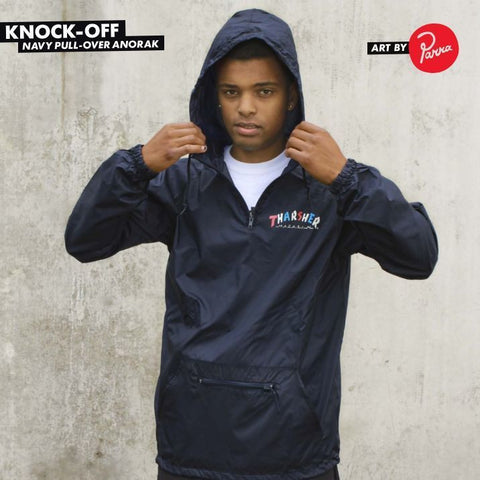 Thrasher Knock-Off Anorak Hood (Navy)