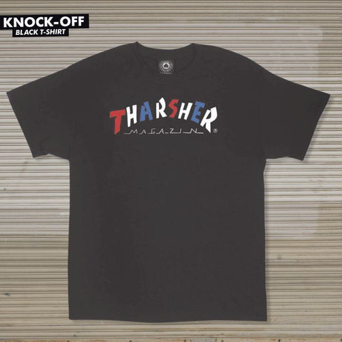 Thrasher Knock-Off S/S Tee (Black)