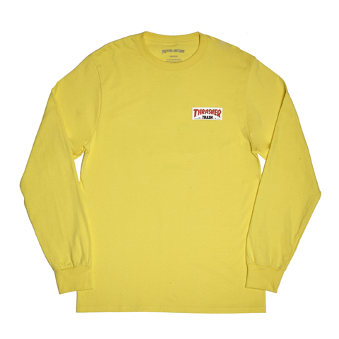 Fucking Awesome X Thrasher Trash Me L/S T-Shirt Yellow