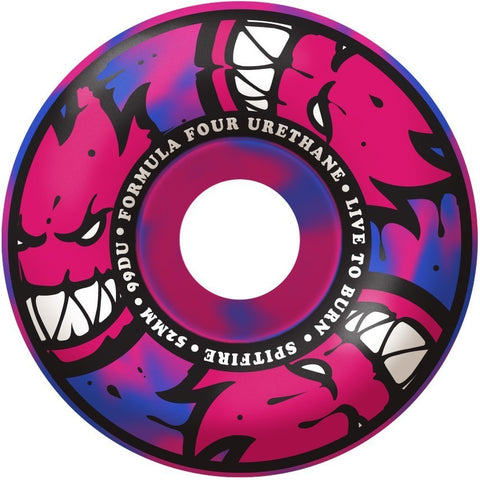 Spitfire F4 Afterburner Wheels Black/Pink (55MM)