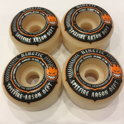 Spitfire x Kinetic F4 Arson Department Wheels (52MM)
