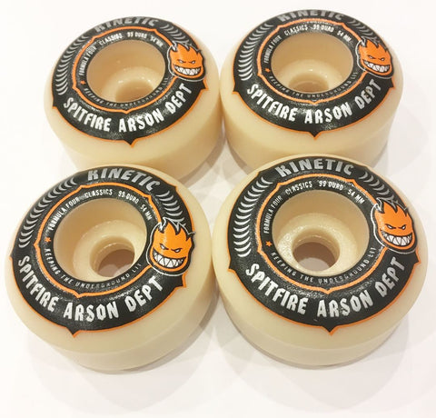 Spitfire x Kinetic F4 Arson Department Wheels (54MM)