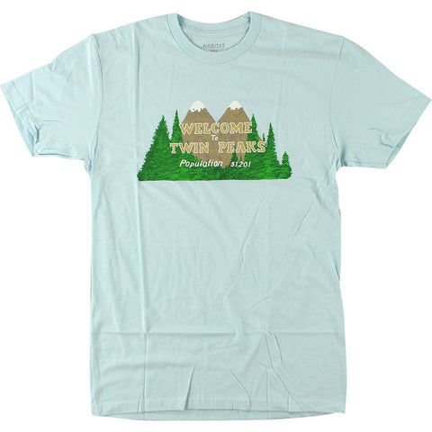 Habitat x Twin Peaks Welcome To Twin Peaks T-Shirt (Light Blue)