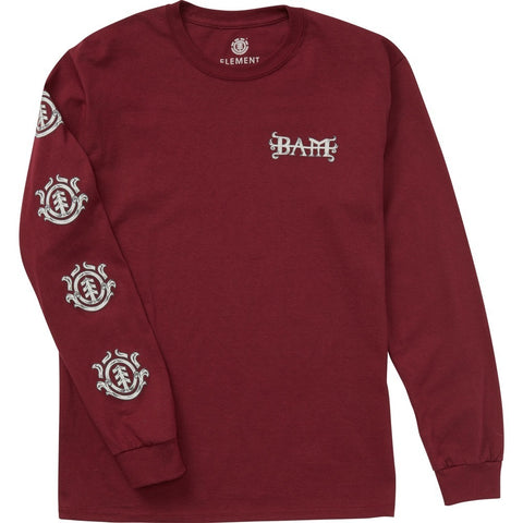 Element Bam Long Sleeve Shirt (Maroon)