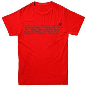 Cream Digital Tee (Red/Black)