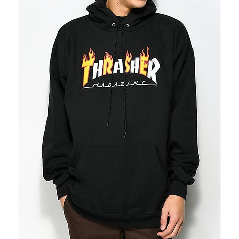 Thrasher Flame Mag Hood (Black)