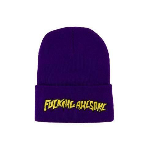 Fucking Awesome Outline Logo Beanie (Yellow/Purple)