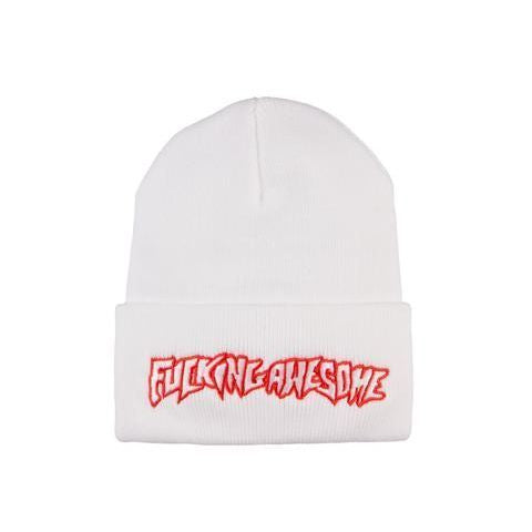 Fucking Awesome Outline Logo Beanie (Red/White)