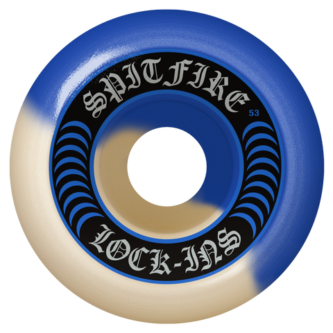 Spitfire F4 Lock In Wheels Swirl Blue/Natural 99D (53MM)