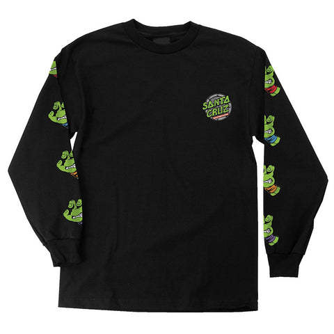 Santa Cruz x TMNT Turtle Sewer Dot L/S Tee (Black)