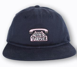 Dial Tone Dial Strapback Hat (Navy/Pink)