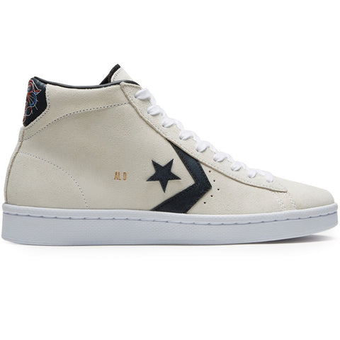 Converse Pro Leather Mid Al Davis (White/Black/Gold)