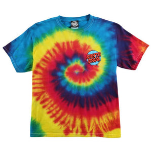 Santa Cruz Screaming Hand Youth T-Shirt Reactive Rainbow