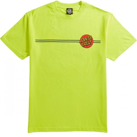 Santa Cruz Classic Dot T-Shirt Safety Green