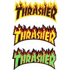 Thrasher Flame Sticker LG