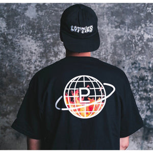 Terror of Planet X Logo Flame Tee (Black)