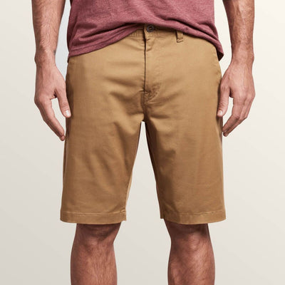 Volcom Frickin Modern Chino Stretch Shorts (Dark Khaki)