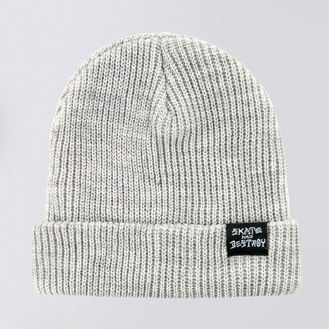 Thrasher Skate and Destroy Beanie (Grey)