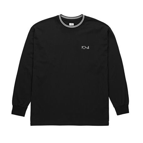 Polar Striped Rib L/S Tee (Black/White)