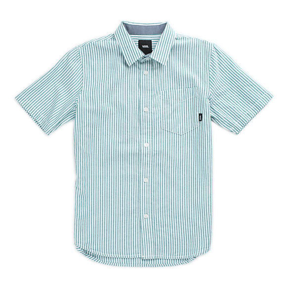 Vans Houser Short Sleeve Button Up (QUETZAL STRIPE)