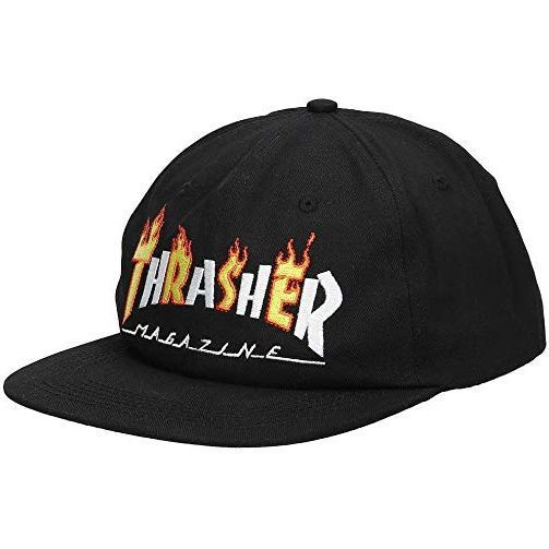 Thrasher Flame Mag Adj Hat (Black)