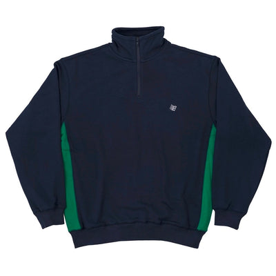 BRONZE 56K MICRODOSE QUARTER ZIP (NAVY / GREEN)