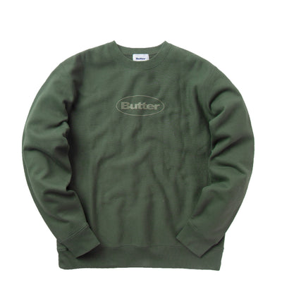 Butter Goods Puff Badge Logo Crewneck (Forest)