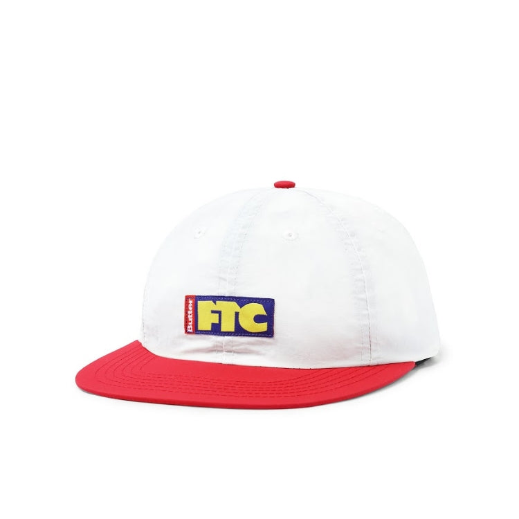 Butter Goods x FTC Flag 6 Panel Cap (White/Red)