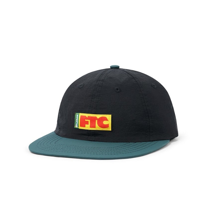 Butter Goods x FTC Flag 6 Panel Cap (Black/Forrest Green)