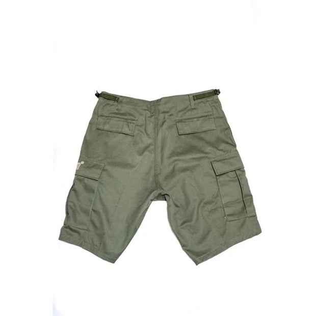Cream Digital Cargo Shorts (Olive)