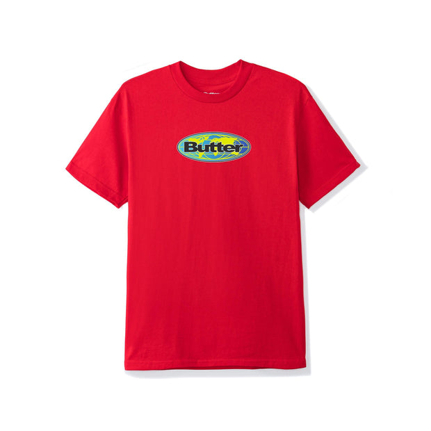 Butter Goods Global Tee (Red)
