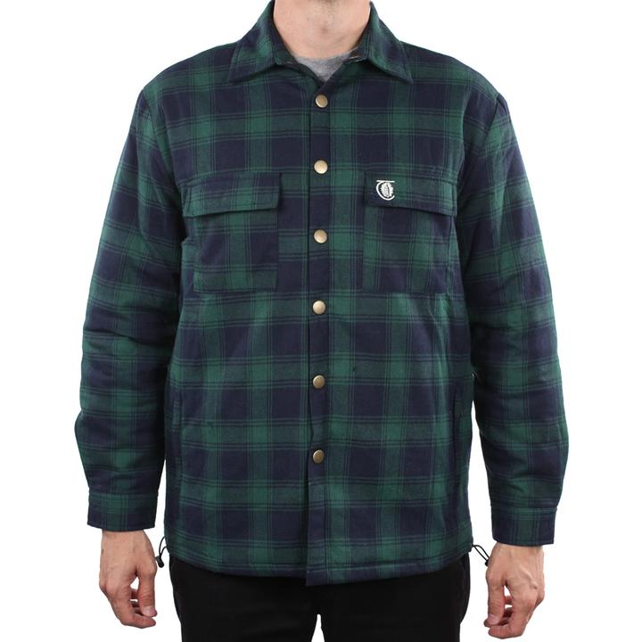 Theories Of Atlantis Lantern Flannel Jacket (Forest)