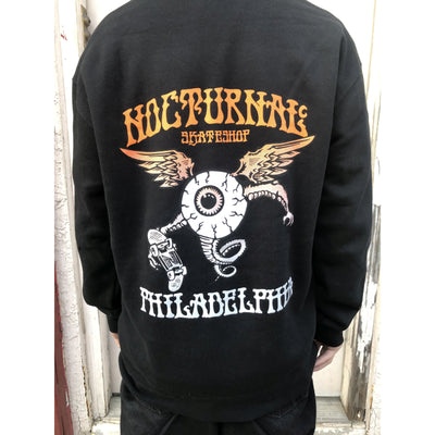 Nocturnal Eyeball Hoody ( Black )