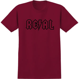Real Deeds Outline Tee (Cardinal/Black)