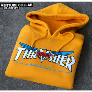 Thrasher x Venture Collab Hoodie (Gold)