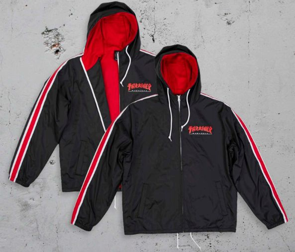 Thrasher Godzilla Track Jacket (Black/Red)