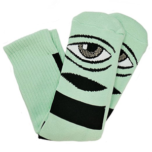 Toy Machine Sect Eye Big Stripe Crew Sock (Mint)