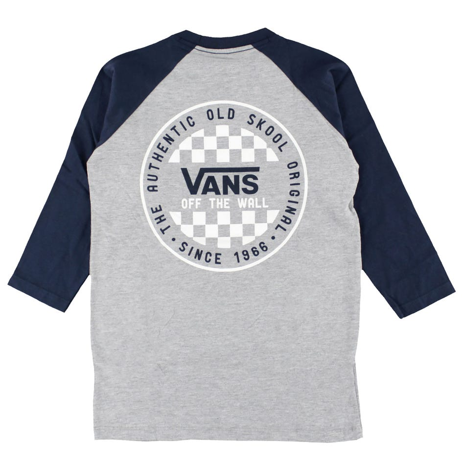 Vans Boys OG Checker Raglan Shirt (Athletic Heather)