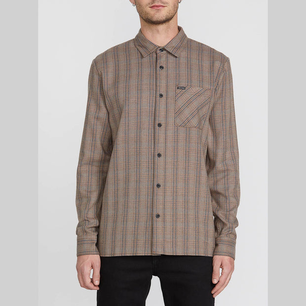 Volcom Glenstone Long Sleeve (Bison)
