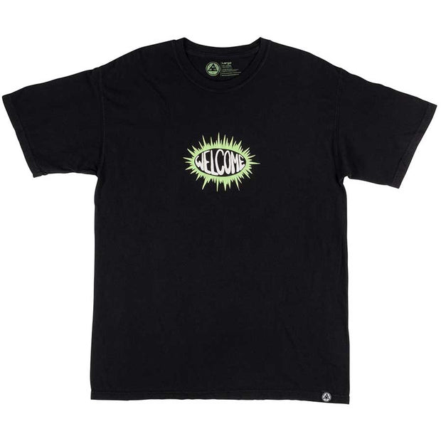 Welcome Burst Garment Dyed Tee (Black)